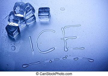 cubes, glace