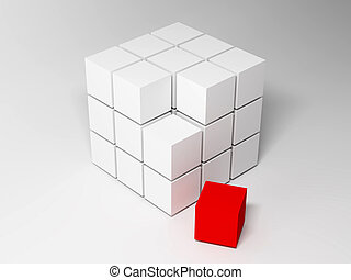 cubes., résumé, fond