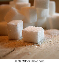 cubes, sucre