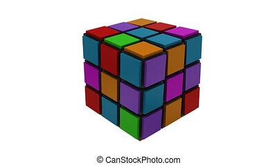 cubique, stratégie, 3d, puzzle