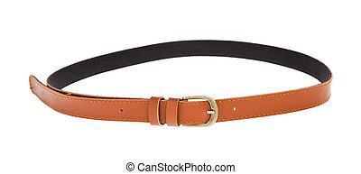 cuir, brun, ceinture