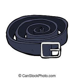 cuir, dessin animé, ceinture
