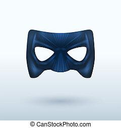 cuir, noir, superhero., masque