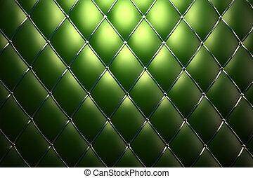 cuir, vert, authentique, modèle