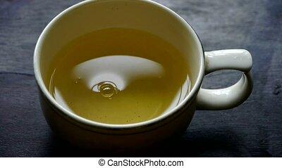 cuire vapeur, tea., water., porcelaine, bol