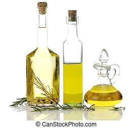 cuisine, bouteilles, huile
