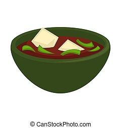 cuisine, cubes, fromage, soupe, oriental, délicieux