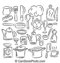 cuisine, dessiner