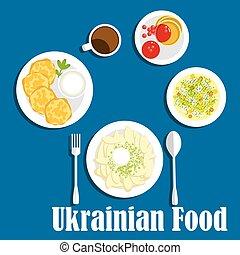 cuisine, légumes, boisson, frais, ukrainien