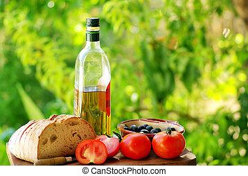 cuisine, méditerranéen, ingrédients