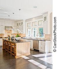 cuisine, moderne, intérieur
