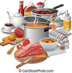 cuisine, repas