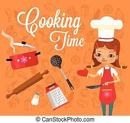 cuisine, temps