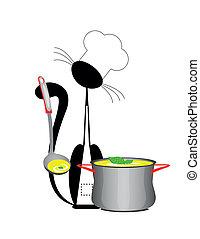 cuisinier, chat