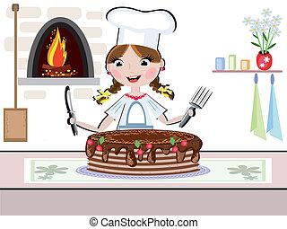 cuisinier, girl