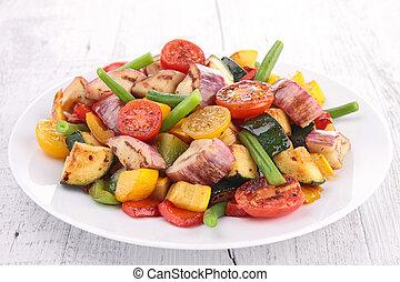 cuit, légumes