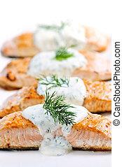 cuit, saumon