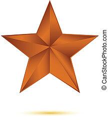 cuivre, blanc, étoile