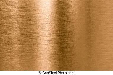cuivre, métal, texture, fond, ou, bronze