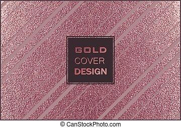 cuivre, moderne, métal, métallique, arrière-plan., lustré, élégant, design., texture., bronze, minimal