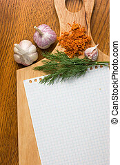 culinaire, recettes, cahier