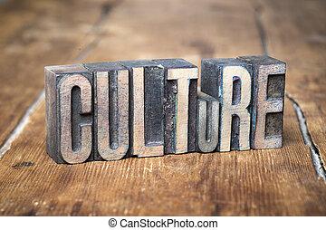 culture, bois, mot