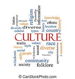 culture, concept, mot, nuage