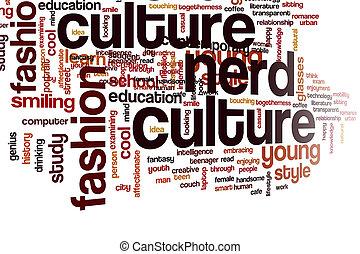 culture, mot, nerd, nuage