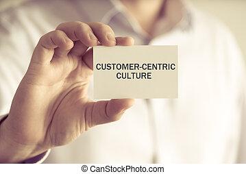 culture, tenue, homme affaires, message, customer-centric, carte