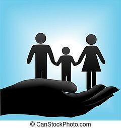 cuppe, enfant, père, famille, mère