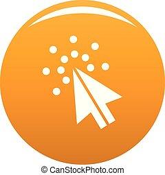 curseur, orange, vecteur, numérique, icône