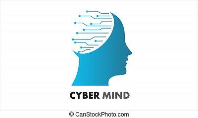 cyber, logo, esprit