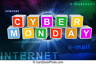 'cyber, texte, monday', buzzword, 3d