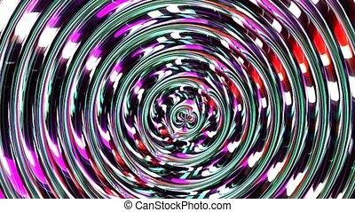 cyberespace, movement., sci, espace, illusion, trou ver, travel., chaîne, seamless, mouvement, verre, conception, fi, flight., vaisseau spatial, boucle