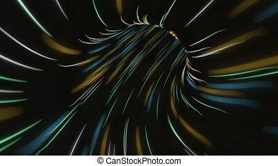 cyberespace, vol, espace, sur, trou ver, mouvement, travel., space., seamless, sombre, conception, chaîne, boucle, fi, flight., vaisseau spatial, sci