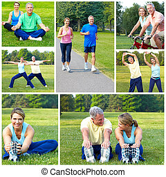 cyclisme, fitness, jogging