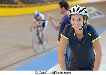 cyclisme, préparer, concurrence
