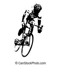 cyclisme, vector., route, cycliste