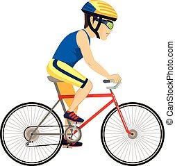 cycliste, professionnel, homme
