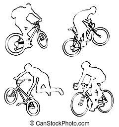 cyclistes, contour