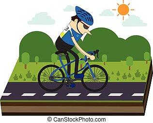 cyclistes, race vélo
