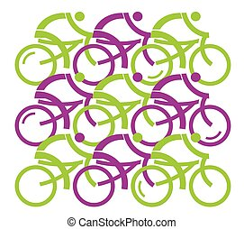 cyclists., groupe