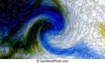 cyclones, trou, particule, tourbillon