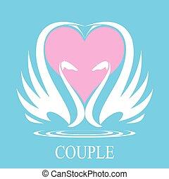 cygne, couple