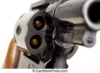 cylindre, calibre, pointu, fusil, revolver, 38, chargé, baril, pistolet