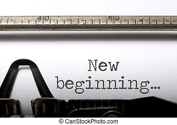 début, nouveau