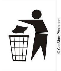 déchets ménagers, signe