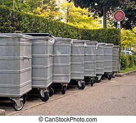 déchets, métal, casiers
