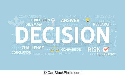 décision, concept, illustration.