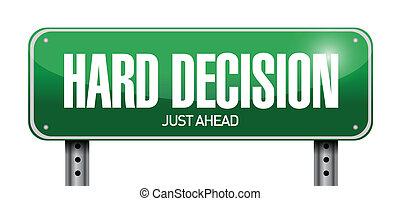 décision, dur, illustration, signe, conception, route
